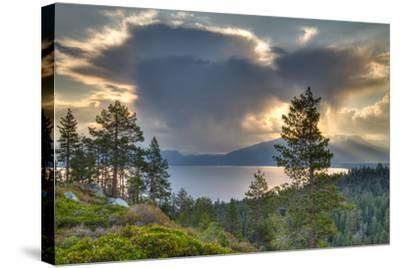 A Storm at Sunrise over Lake Tahoe, California