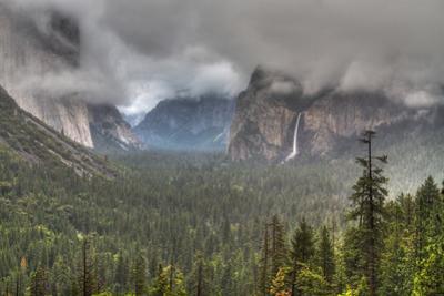 Bridalveil Fall in Evening Light, Yosemite Valley, California by Greg Winston