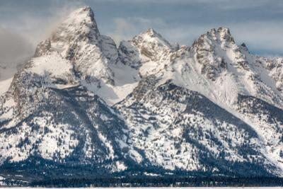 The Grand Teton, Mt. Owen, and Mt. Teewinot in Winter