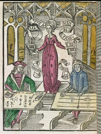 "Allegory of Arithmetic, from ""Margarita Philosophica,"" 1504"