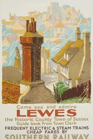 Lewes, Poster Advertising Southern Railway