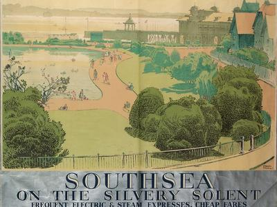 'Southsea on the Silvery Solent', Poster Advertising Southern Railways, 1959