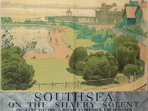 'Southsea on the Silvery Solent', Poster Advertising Southern Railways, 1959 by Gregory Brown