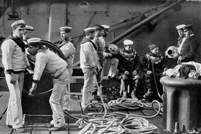 The Diver on Board Ship, 1896 by Gregory & Co