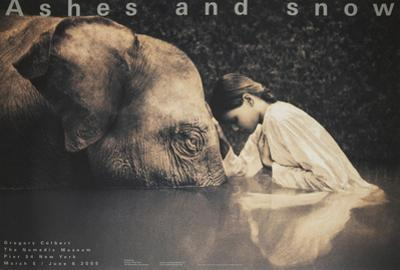 Girl with Elephant by Gregory Colbert