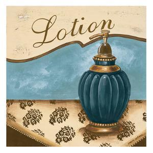 Bath Accessories IV - Blue Lotion by Gregory Gorham