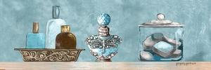 Blue Bath Panel II by Gregory Gorham