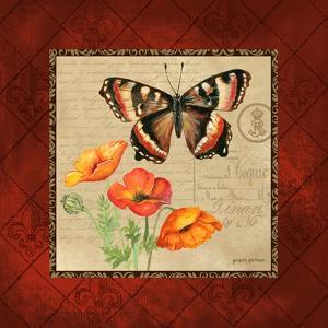 Butterfly & Poppies by Gregory Gorham