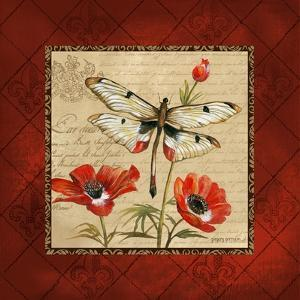 Dragonfly & Poppies by Gregory Gorham