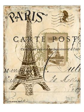 Paris Collage I - Eiffel Tower by Gregory Gorham