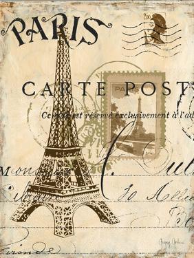 Paris Collage I - Eiffel Tower by Gregory Gorham