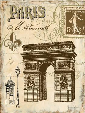 Paris Collage II  - Arc de Triomphe by Gregory Gorham