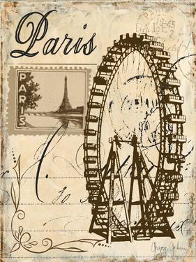 Paris Collage III - Ferris Wheel by Gregory Gorham
