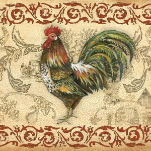 Toile Rooster IV by Gregory Gorham