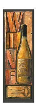 Type Set Wine Panel II by Gregory Gorham