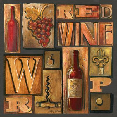 Type Set Wine Sq I by Gregory Gorham