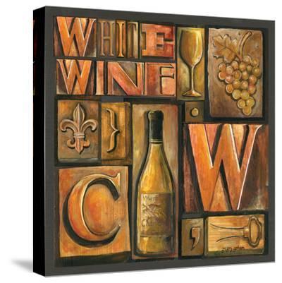 Type Set Wine Sq II by Gregory Gorham