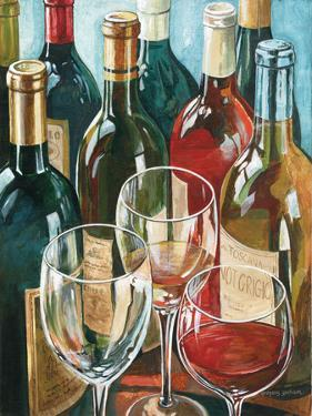 Wine Reflections I - Bottles and Glasses by Gregory Gorham
