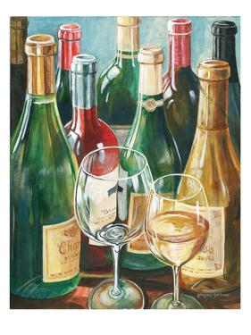Wine Reflections II - Bottles and Glasses by Gregory Gorham