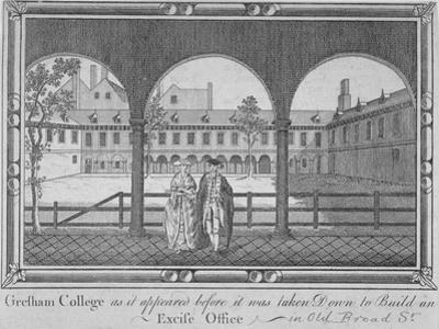 Gresham College, City of London, 1760