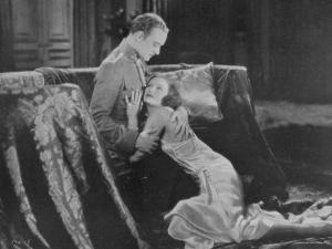 Greta Garbo (Real Name Greta Lovisa Gustafsson) Swedish Actress in a Scene with Conrad Nagel