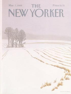 The New Yorker Cover - March 7, 1988 by Gretchen Dow Simpson