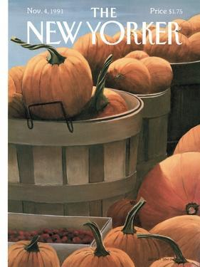 The New Yorker Cover - November 4, 1991 by Gretchen Dow Simpson