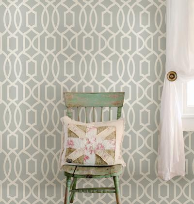 Grey Grand Trellis Peel & Stick Wallpaper