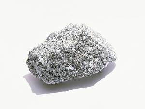 Grey Textured Stone on White Background
