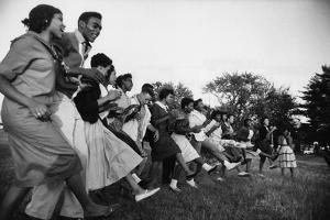 African American Students Dancing Together by Grey Villet