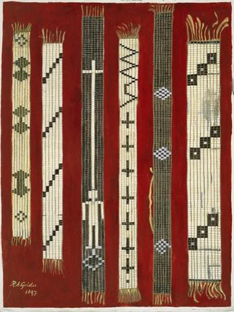 Iroquois Wampum Belts by Grider Rufus