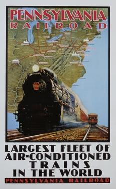 Pennsylvania Railroad Poster by Grif Teller