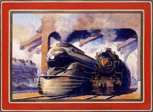 Pennsylvania Railroad, Steam Locomotive by Grif Teller