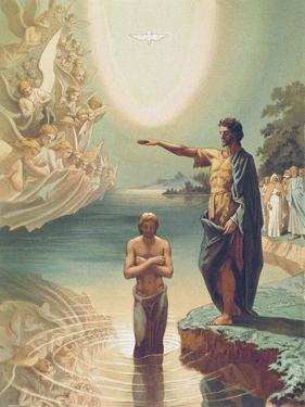 The Baptism of Christ, C.1860 by Grigori Grigorevich Gagarin