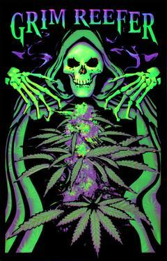 Grim Reefer Marijuana Pot Blacklight Poster Print