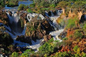 Epupa Waterfall Panorama, Namibia by Grobler du Preez