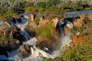Epupa Waterfalls in on the Border of Angola and Namibia by Grobler du Preez