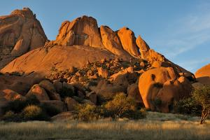 Spitzkoppe in Namibia at Sunset by Grobler du Preez