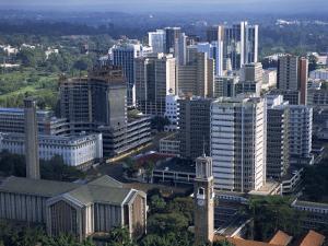 Aerial View over Nairobi, Kenya, East Africa, Africa by Groenendijk Peter