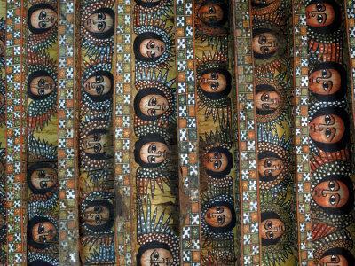 Angels, Debre Birhan Selassie Church, Gondar, Ethiopia, Africa