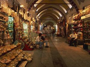 Interior of the Grand Bazaar in Istanbul, Turkey, Europe by Groenendijk Peter