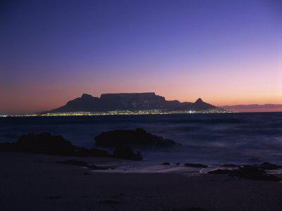 Table Mountain at Dusk, Cape Town, South Africa, Africa