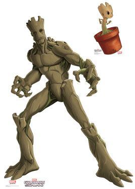 Groot & Little Groot - Animated Guardians Of The Galaxy Lifesize Cardboard Cutout