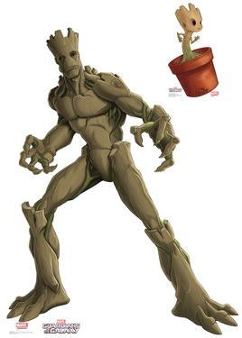 Groot & Little Groot - Animated Guardians Of The Galaxy Lifesize Standup