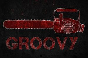 Groovy Chainsaw Movie Plastic Sign