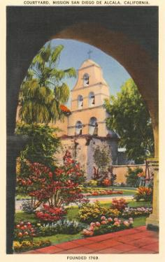 Grounds, Old Mission de Alcala, San Diego, California