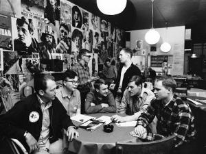 Group of American Army Veterans Who Oppose the Vietnam War Meeting at the Shelter Half Coffeehouse
