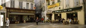 Group of People at a Town Square, Rue De La Republique, Avignon, Provence-Alpes-Cote D'Azur, France