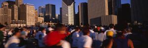 Group of People Running a Marathon, Chicago, Illinois, USA