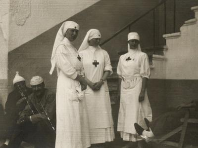 Group of Red Cross Nurses in a Military Hospital During the First World War